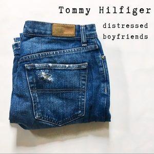 Tommy Hilfiger Distressed Boyfriend Jeans sz 6